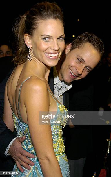 Hilary Swank and Chad Lowe during 'Iron Jawed Angels' Los Angeles Premiere Arrivals at El Capitan Theatre in Hollywood California United States