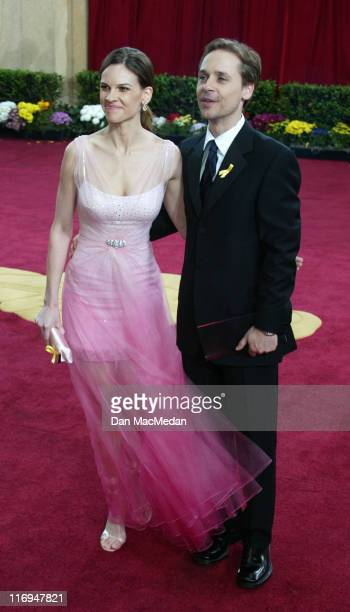 Hilary Swank and Chad Lowe during The 75th Annual Academy Awards Arrivals at The Kodak Theater in Hollywood California United States