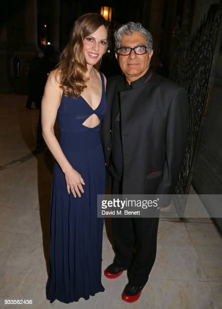 Hilary Swank and Deepak Chopra attend the Liberatum Mexico Festival 2018 Gala Dinner and Liberatum Cultural Honour Awards at the Museo Nacional de...