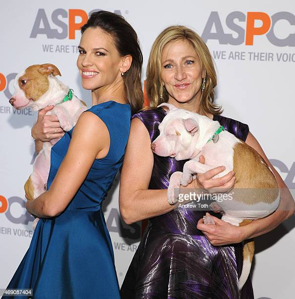 Hilary Swank and Edie Falco attend the ASPCA'S 18th Annual Bergh Ball honoring Edie Falco and Hilary Swank at The Plaza Hotel on April 9 2015 in New...