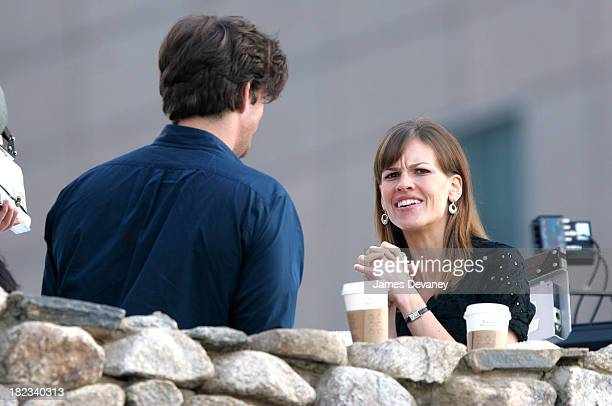 Hilary Swank and Harry Connick Jr. During Hilary Swank and Harry Connick Jr. On Set of P.S., I Love You - November 27, 2006 at Tribeca in New York,...