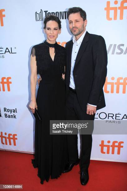 Hilary Swank and her husband Philip Schneider attend the 'What They Had' premiere during 2018 Toronto International Film Festival at Roy Thomson Hall...
