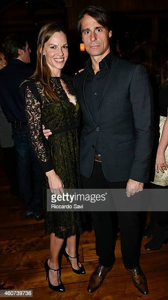 Hilary Swank and Laurent Fleury attend Audi Celebrates The Holidays In Aspen And Snow Polo 2014 on December 20 2014 in Aspen Colorado