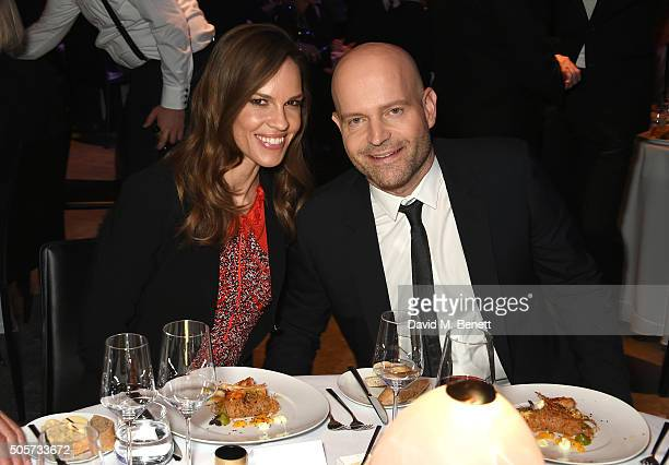 Hilary Swank and Marc Forster attend the IWC 'Come Fly with us' Gala Dinner during the launch of the Pilot's Watches Novelties from the Swiss luxury...