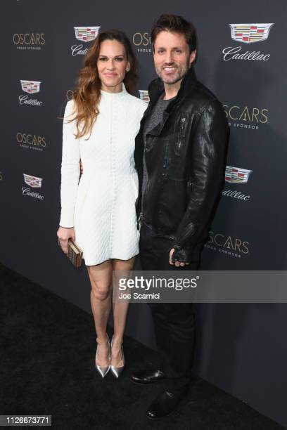 Hilary Swank and Philip Schneider attend the Cadillac Oscar Week Celebration at Chateau Marmont on February 21 2019 in Los Angeles California