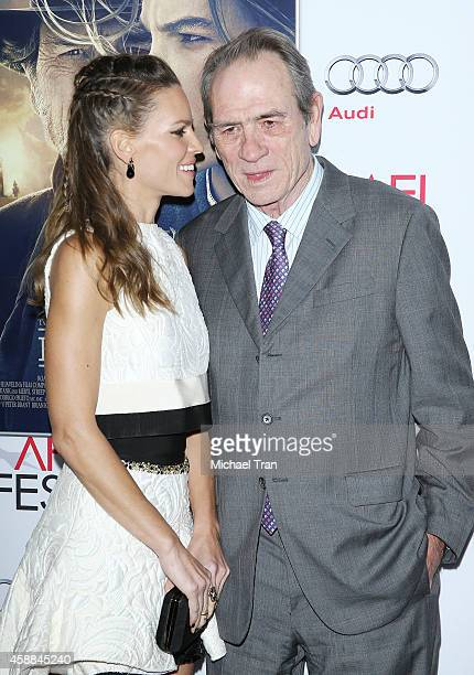 Hilary Swank and Tommy Lee Jones arrive at AFI FEST 2014 Presented By Audi The Homesman premiere held at Dolby Theatre on November 11 2014 in...