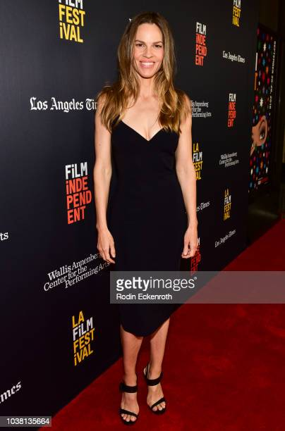 Hilary Swank arrives at the 2018 LA Film Festival Unscripted with Hilary Swank at Wallis Annenberg Center for the Performing Arts on September 22...