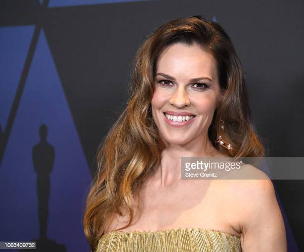 Hilary Swank arrives at the Academy Of Motion Picture Arts And Sciences' 10th Annual Governors Awards at The Ray Dolby Ballroom at Hollywood Highland...