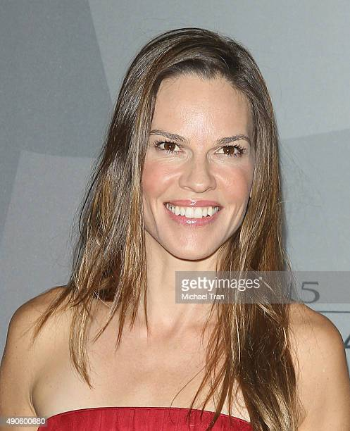 Hilary Swank arrives at The Los Angeles Philharmonic 2015/2016 season opening night gala held at Walt Disney Concert Hall on September 29 2015 in Los...