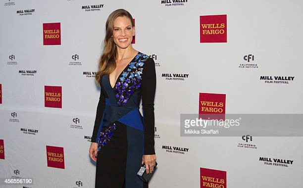 Hilary Swank arrives at the Opening Night Reception at The Outdoor Art Club on October 2 2014 in Mill Valley California