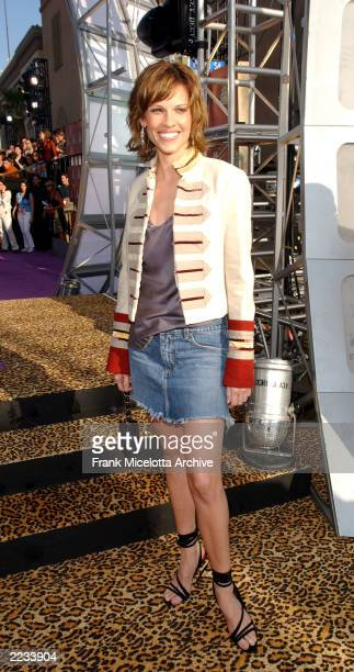 Hilary Swank arrives for the 2002 MTV Movie Awards at the Shrine Auditorium in Los Angeles, Ca., 6/1/02. Photo by Frank Micelotta/ImageDirect.