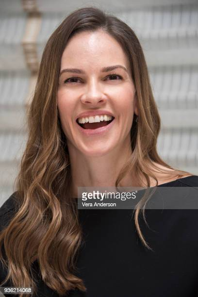 Hilary Swank at the 'Trust' Press Conference at the Peninsula Hotel on March 20 2018 in New York City