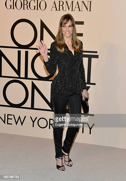 Hilary Swank attends Armani One Night Only New York at SuperPier on October 24 2013 in New York City