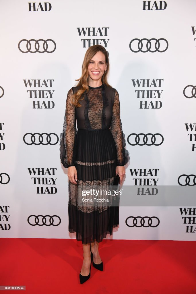 """CAN: Audi Canada Hosts Hilary Swank In Celebration Of """"What They Had"""" During The Toronto International Film Festival"""