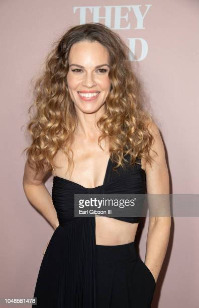 Hilary Swank attends Bleeker Street Presents Los Angeles Special Screening of What They Had at iPic Westwood on October 9 2018 in Westwood California
