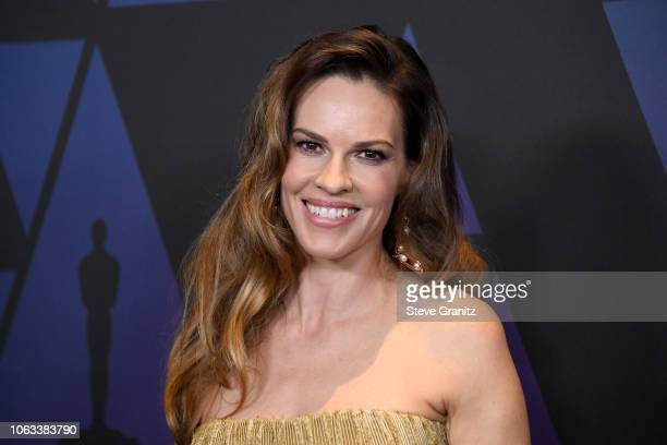 Hilary Swank attends the Academy of Motion Picture Arts and Sciences' 10th annual Governors Awards at The Ray Dolby Ballroom at Hollywood Highland...
