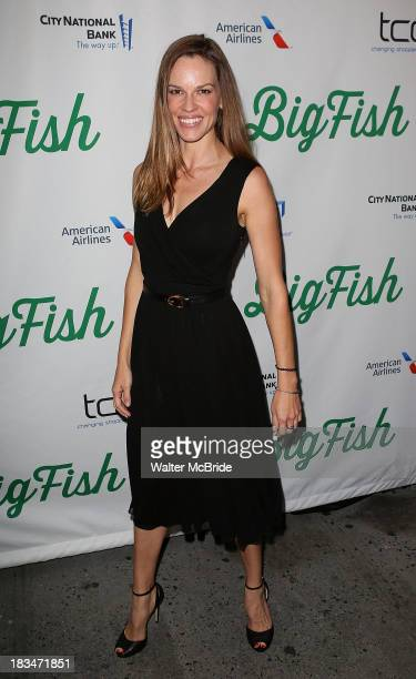 """Hilary Swank attends the """"Big Fish"""" Broadway Opening Night at Neil Simon Theatre on October 6, 2013 in New York City."""