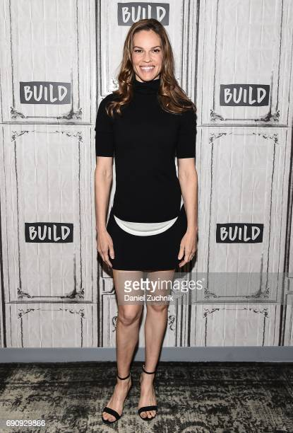 Hilary Swank attends the Build Series to discuss her new fashion brand Mission Statement at Build Studio on May 31 2017 in New York City
