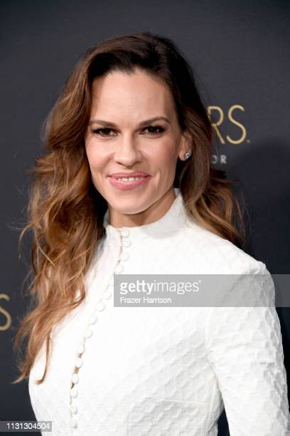 Hilary Swank attends the Cadillac celebrates The 91st Annual Academy Awards at Chateau Marmont on February 21 2019 in Los Angeles California
