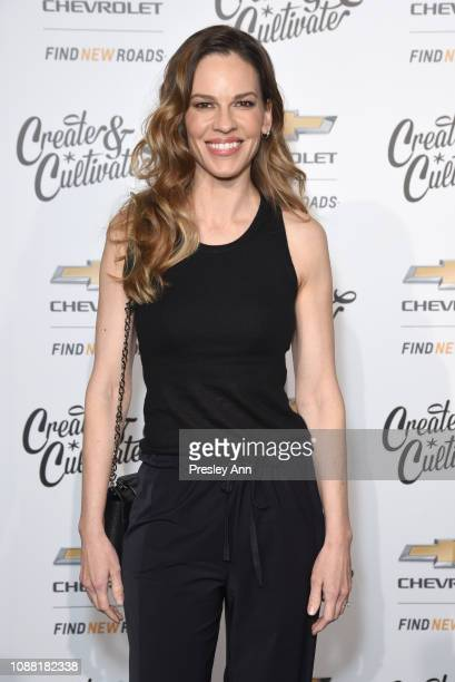Hilary Swank attends the Create Cultivate And Chevrolet Launch Event For The Create Cultivate 100 List on January 24 2019 in Los Angeles California