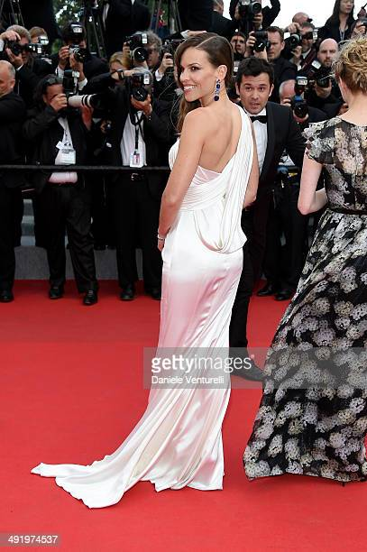 Hilary Swank attends 'The Homesman' Premiere at the 67th Annual Cannes Film Festival on May 18 2014 in Cannes France