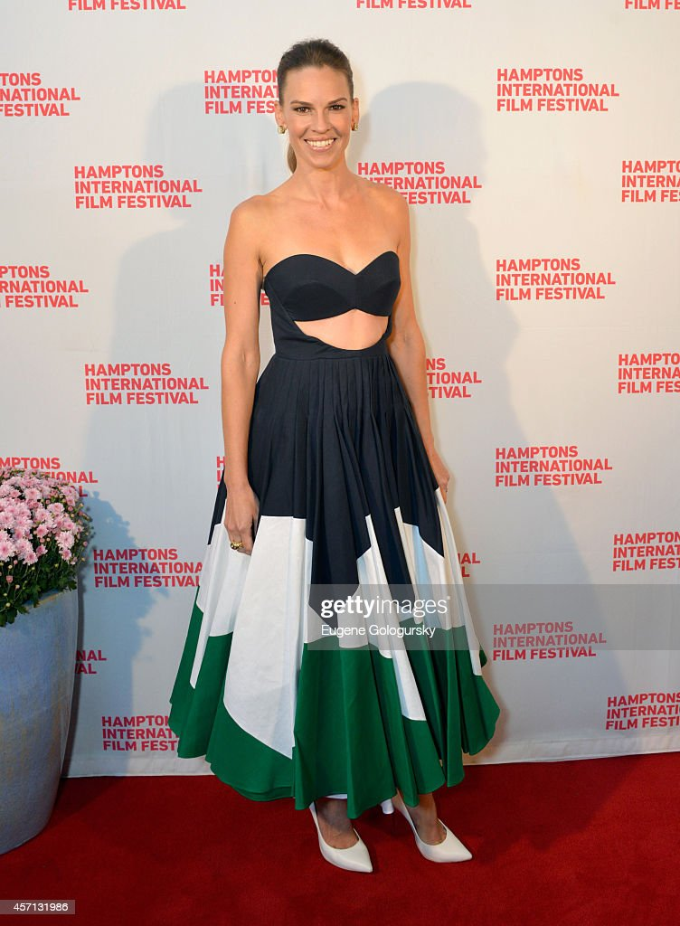 Hilary Swank attends 'The Homesman' premiere during the 2014 Hamptons International Film Festival on October 12, 2014 in East Hampton, New York.