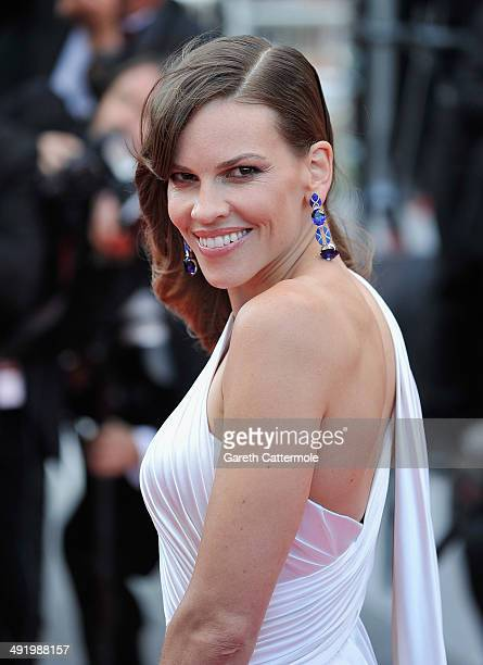 Hilary Swank attends 'The Homesman' premiere during the 67th Annual Cannes Film Festival on May 18 2014 in Cannes France