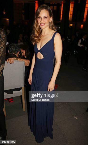 Hilary Swank attends the Liberatum Mexico Festival 2018 Gala Dinner and Liberatum Cultural Honour Awards at the Museo Nacional de Arte hosted by...