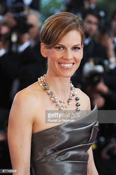 Hilary Swank attends the Looking For Eric Premiere held at the Palais Des Festivals during the 62nd International Cannes Film Festival on May 18 2009...