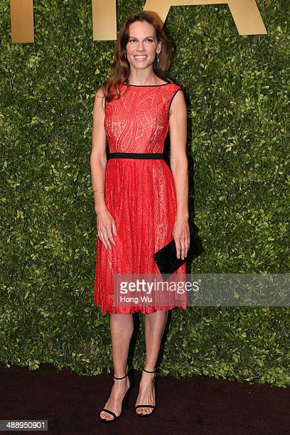 Hilary Swank attends the Michael Kors Jet Set Experience on May 9 2014 in Shanghai China