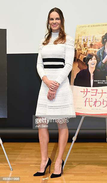 Hilary Swank attends the press conference for 'You're Not You' during the Tokyo International Film Festival 2015 at Roppongi Hills on October 23 2015...