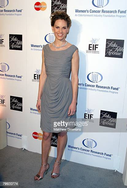 Hilary Swank attends the Saks Fifth Avenue Unforgettable Evening at the Beverly Wilshire Hotel on February 20, 2008 in Beverly Hills, California.
