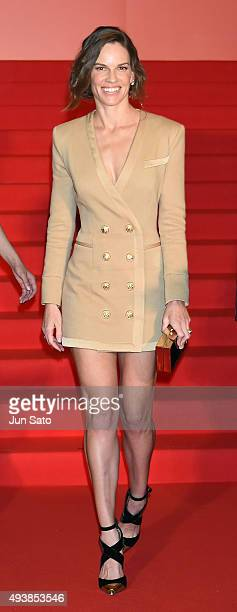 Hilary Swank attends the stage greeting for 'You're Not You' Stage Greeting during the Tokyo International Film Festival 2015 at Shinjuku Picadilly...