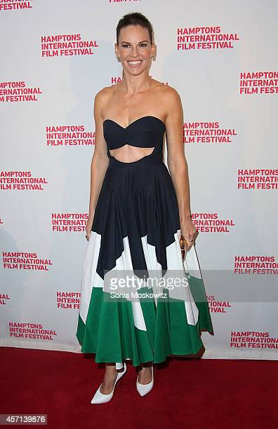 Hilary Swank attends theHomesman premiere at Guild Hall on October 12 2014 in East Hampton New York