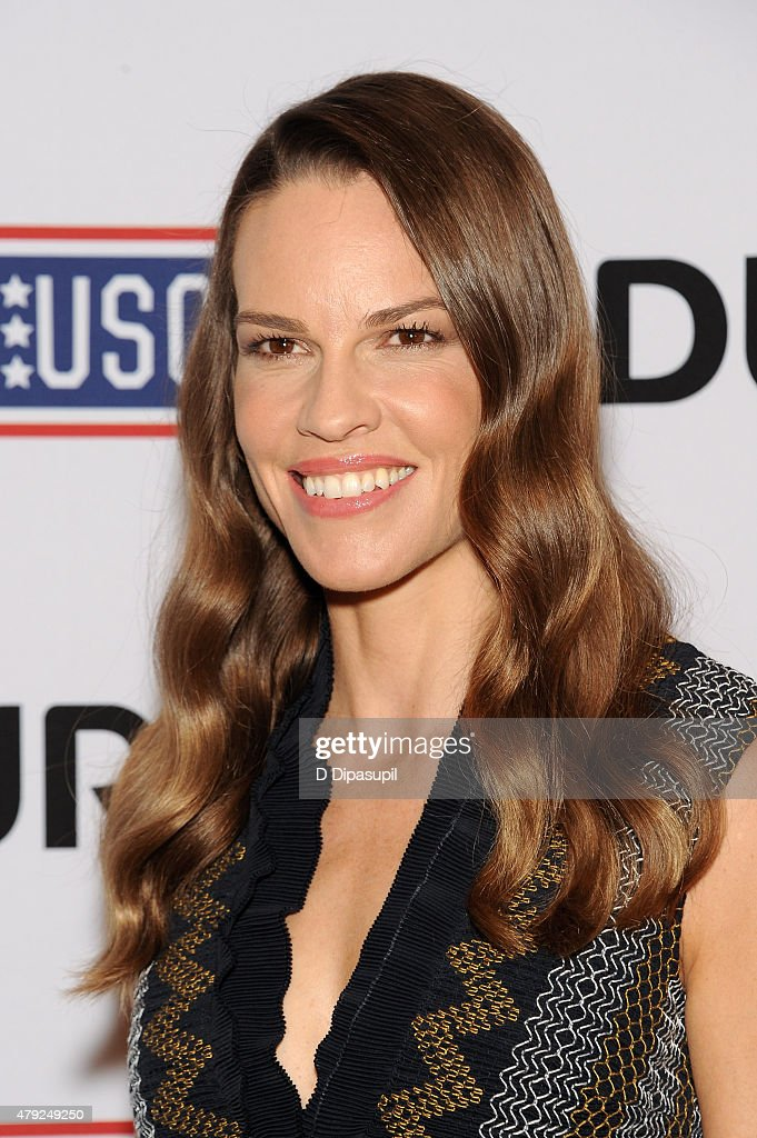 Hilary Swank attends USO's 'Comfort Crew for Military Kids' program screening at The Times Center on July 2, 2015 in New York City.