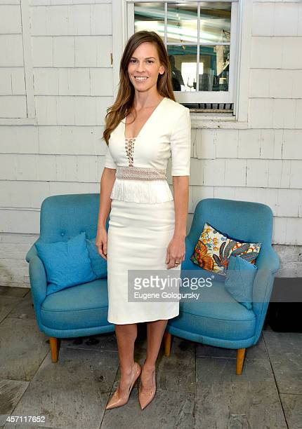 Hilary Swank attends Variety's 10 Actors To Watch Brunch with Hilary Swank during the 2014 Hamptons International Film Festival on October 12 2014 in...