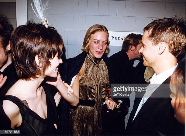 Hilary Swank Chloe Sevigny Chad Lowe during 2000 Independent Spirit Awards in Santa Monica California United States