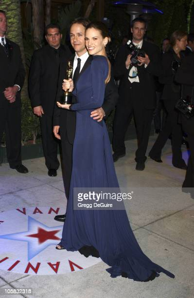 Hilary Swank during 2005 Vanity Fair Oscar Party Arrivals at Mortons in Los Angeles California United States