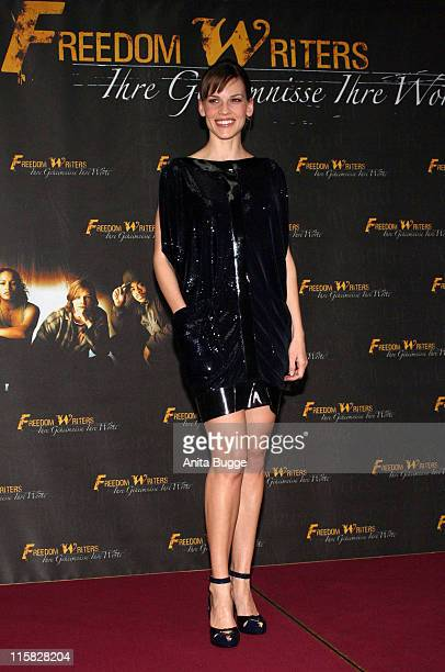 """Hilary Swank during """"Freedom Writers"""" Berlin Photo Call with Hilary Swank - February 21, 2007 at Adlon Hotel in Berlin, Berlin, Germany."""