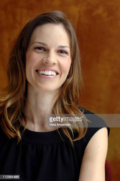 Hilary Swank during 'Freedom Writers' Press Conference with Hilary Swank at The Regency Hotel in New York City New York United States
