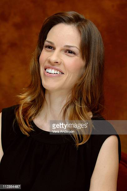 """Hilary Swank during """"Freedom Writers"""" Press Conference with Hilary Swank at The Regency Hotel in New York City, New York, United States."""