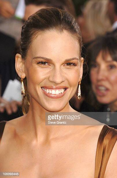 Hilary Swank during The 62nd Annual Golden Globe Awards Arrivals at Beverly Hilton Hotel in Los Angeles California United States
