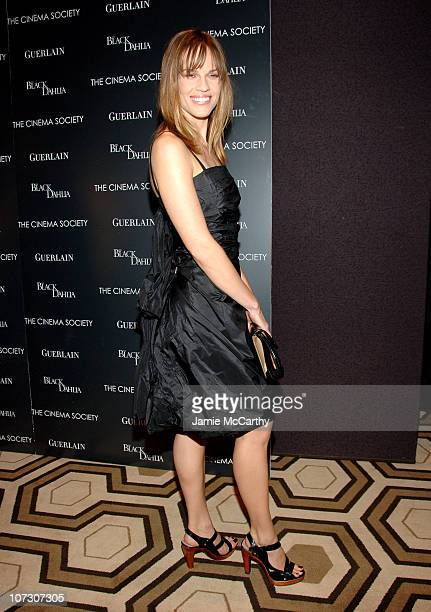 Hilary Swank during The Cinema Society and Guerlain Present a Screening of The Black Dahlia Arrivals at Tribeca Grand Screening Room in New York City...