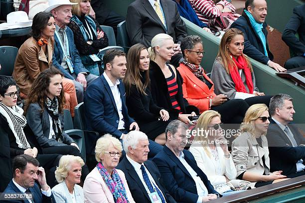 Hilary Swank during the day fifteen of the French Open 2016 at Roland Garros on June 5 2016 in Paris France