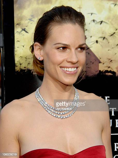 Hilary Swank during 'The Reaping' Los Angeles Premiere Arrivals at Mann Village Theater in Westwood California United States