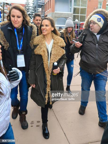 Hilary Swank is seen on January 21 2018 in Park City Utah