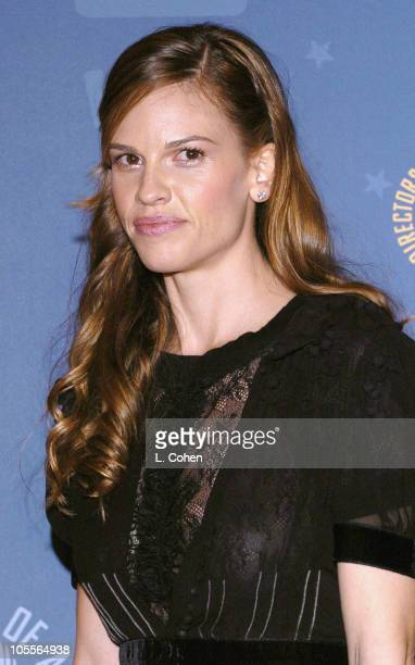 Hilary Swank presenter of Outstanding Directorial Achievement in a Feature Film award to Clint Eastwood for 'Million Dollar Baby'