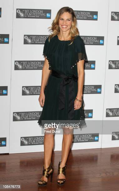 Hilary Swank promotes the film 'Conviction' at the 54th BFI London Film Festival at Vue West End on October 15, 2010 in London, England.