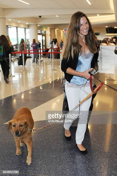 Hilary Swank seen at LAX on September 04 2014 in Los Angeles California