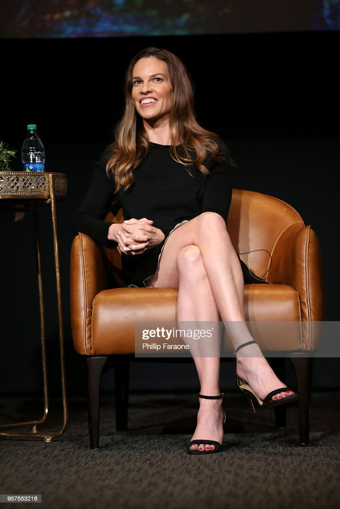 Hilary Swank speaks onstage during the For Your Consideration Event for FX's 'Trust' at Saban Media Center on May 11, 2018 in North Hollywood, California.